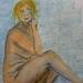 dessin aquarellé +pastel gras