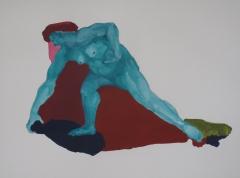 Dépliant - Roche Anne, Femme bleue, acrylique sur papier graphite, 29,7x42.JPG