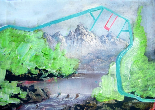 De¦üpliant - Ziarkowski Edwige - Jours heureux a¦Ç Port Radium, gouache et acrylique sur toile de peintre inconnu, 40 x 28.jpg